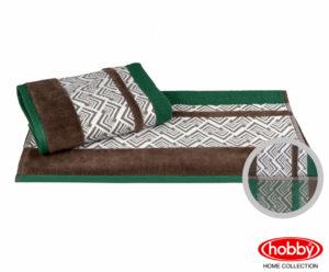 Махровое полотенце 70x140 NAZENDE зелёный 100% Хлопок