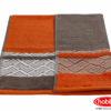 Махровое полотенце 50x90 NAZENDE оранжевый 100% Хлопок