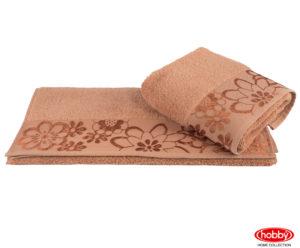 Махровое полотенце 100x150 DORA т.оранжевый 100% Хлопок