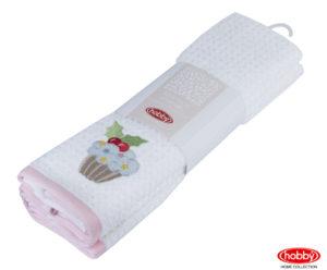 Махровое полотенце в упаковке 40x60*2 CANDY розовый/белый 100% Хлопок