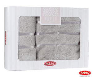 Махровое полотенце в коробке 50x90+70x140 DOLCE коричневый 100% Хлопок