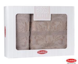 Махровое полотенце в коробке 50x90+70x140 VERSAL коричневый 100% Хлопок