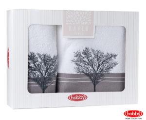 Махровое полотенце в коробке 50x90+70x140 INFINITY белый 100% Хлопок
