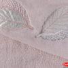 Махровое полотенце с выш. в коробке 50x90 LEYDI-anna лиловый 100% Хлопок