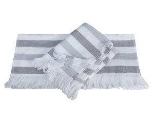 Махровое полотенце 50x90 STRIPE серый 100% Хлопок