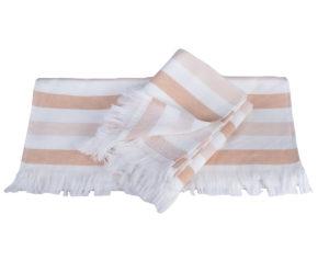 Махровое полотенце 50x90 STRIPE персиковый 100% Хлопок