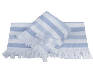 Махровое полотенце 50x90 STRIPE голубой 100% Хлопок