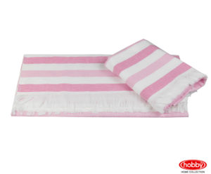 Махровое полотенце 70x140 STRIPE розовый 100% Хлопок