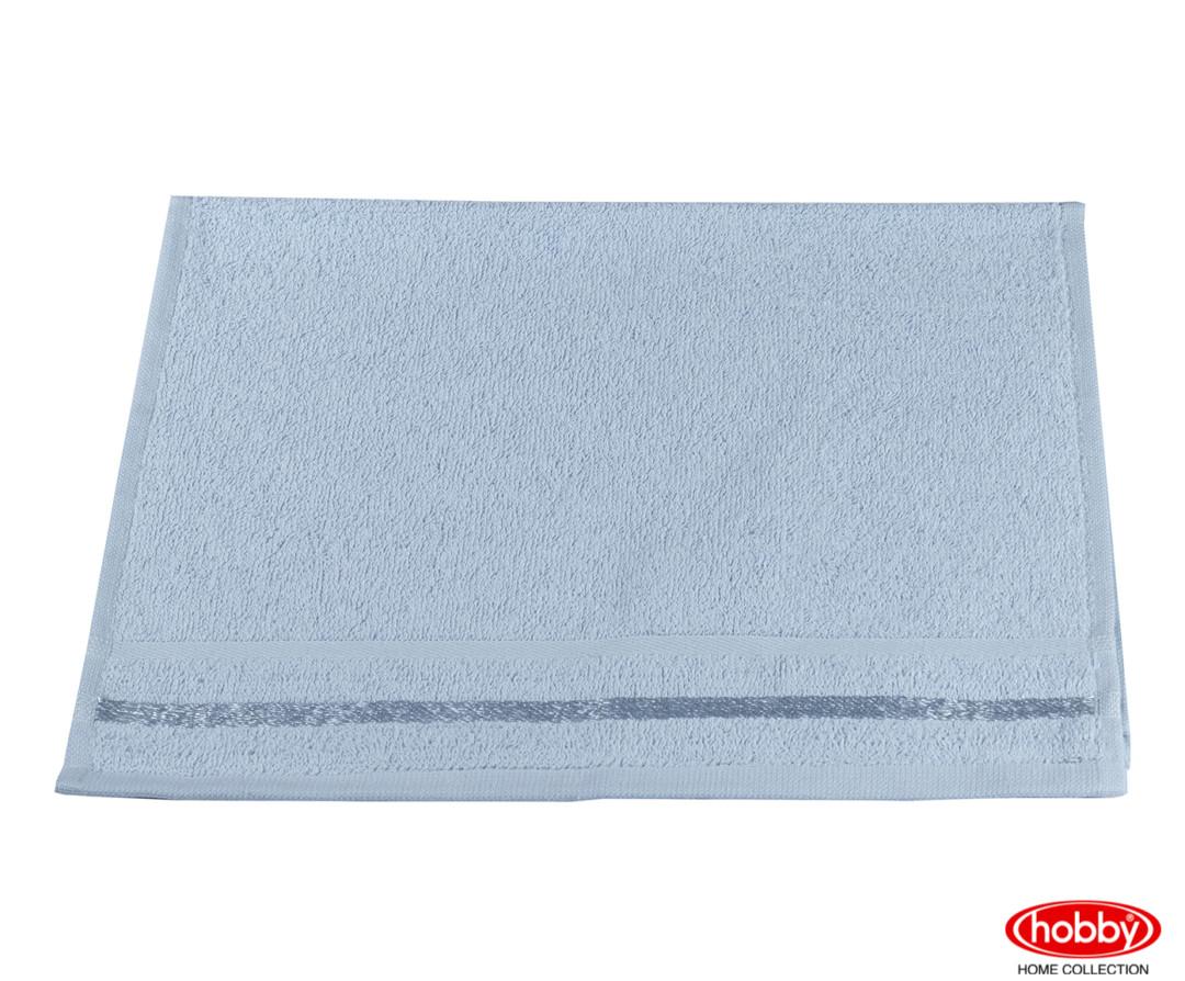 Махровое полотенце 30X50 NISA голубой 100% Хлопок