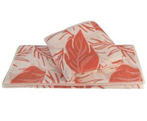 Махровое полотенце 50x90 AUTUMN персиковый 100% Хлопок