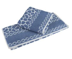 Махровое полотенце 50x90 MARBLE синий 100% Хлопок
