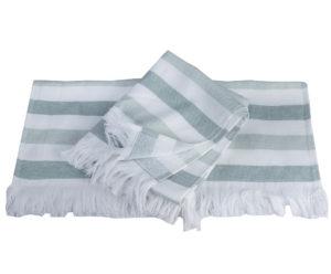 Махровое полотенце 70x140 STRIPE зелёный 100% Хлопок