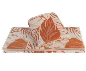 Махровое полотенце 70x140 AUTUMN оранжевый 100% Хлопок
