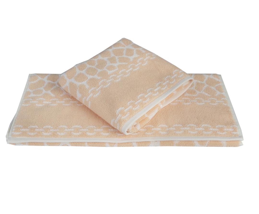 Махровое полотенце 70x140 MARBLE персиковый 100% Хлопок