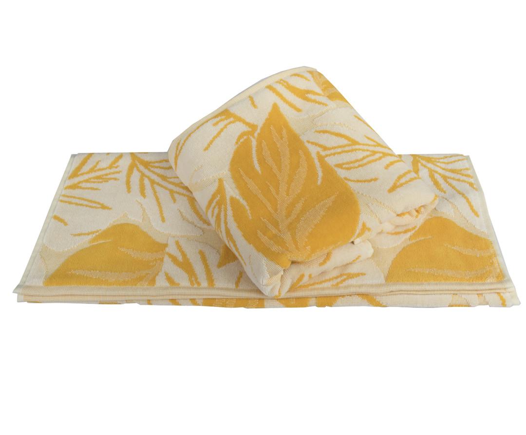 Махровое полотенце 100x150 AUTUMN жёлтый 100% Хлопок