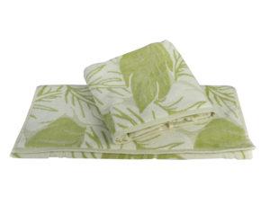 Махровое полотенце 100x150 AUTUMN зелёный 100% Хлопок