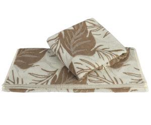 Махровое полотенце 100x150 AUTUMN песочный 100% Хлопок