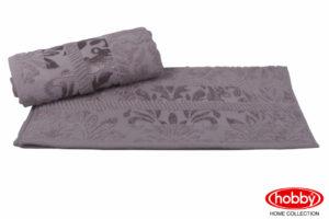 Махровое полотенце 50x90 VERSAL серый 100% Хлопок