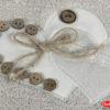 Махровое полотенце с выш. в коробке 50x90 FELISIA-tina св.бежевый 60% Бамбук 40% Хлопок