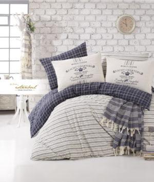 Комплект постельного белья с покрывалом ранфорс I.H. Marine Monaco