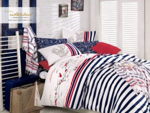 Комплект постельного белья с покрывалом ранфорс I.H. Marine Cot D'Avur