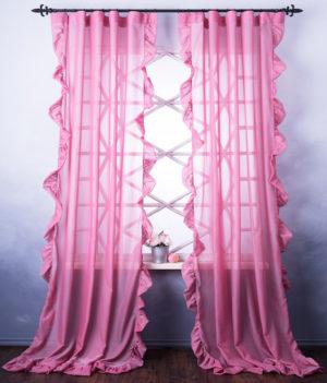 Комплект штор        Бэтси Розовый       2х140х250