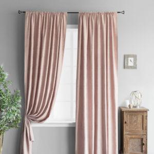Комплект штор        Вики Розовый       2х145х260