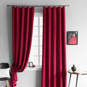 Комплект штор        Тина Красный       2х145х250