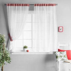 Комплект штор        Адлер Красный       2х140х170