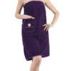 Набор для сауны женский Paris голубой с тапочками
