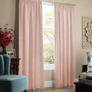 Комплект штор с подхватами  Софт  2х145х270 см Светло-розовый