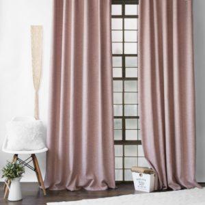Комплект штор с подхватами  Конни  2х200х270 см Розовый
