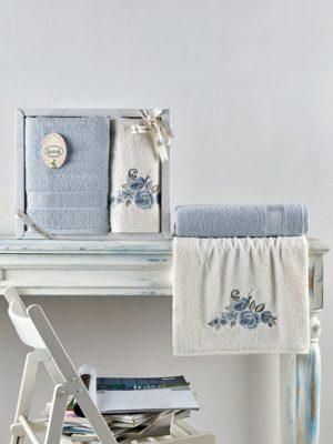 Комплект махровых полотенец ELVIN Светло-Голубой