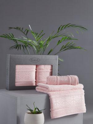 Комплект полотенец бамбук ARMOND Розовый