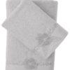 Комплект махровых полотенец с вышивкой SIENA Грязно-розовый