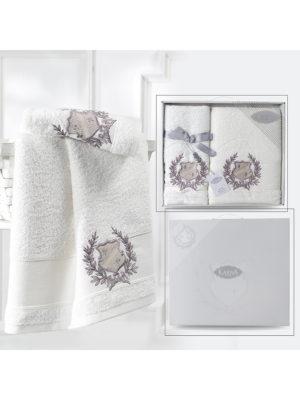 Комплект махровых полотенец DAVIS Кремовый