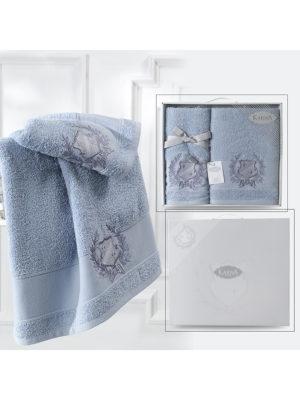 Комплект махровых полотенец DAVIS Голубой