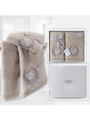 Комплект махровых полотенец DAVIS Кофейный