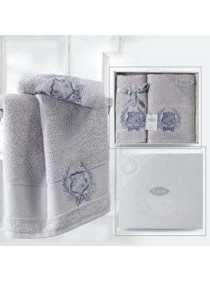 Комплект махровых полотенец DAVIS Серый