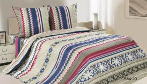 Комплект постельного белья поплин Амиго Евро