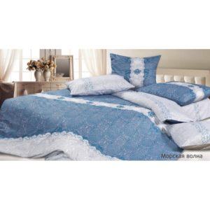 Комплект постельного белья сатин Морская волна 2-сп Макс