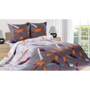 Комплект постельного белья поплин Васаби Евро