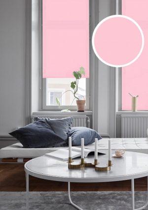 Рулонные шторы однотонные Plain Розовый