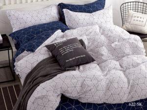 Комплект постельного белья сатин набивной Cleo Satin de' Luxe евро 31/622-SK