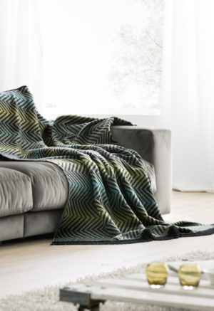 Плед Bocasa Forest green 672483