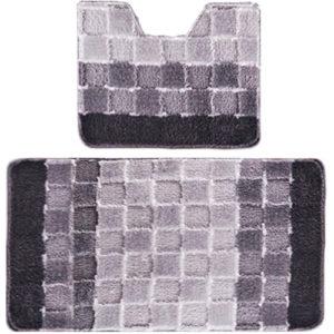 Комплект ковриков Banyolin Silver серый 60*100/50*60