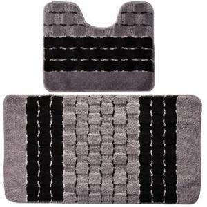 Комплект ковриков Banyolin Silver черный 50*80/50*40