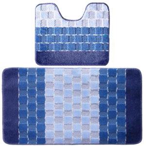 Комплект ковриков Banyolin Silver голубой 60*100/50*60