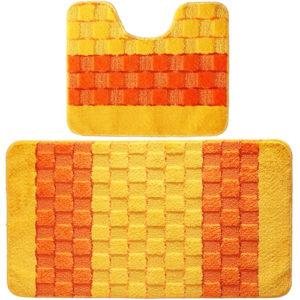 Комплект ковриков Banyolin Silver желтый 50*80/50*40