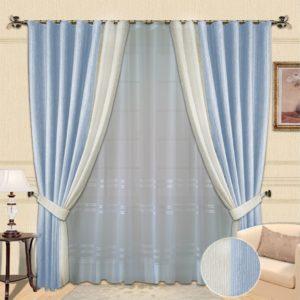 Комплект штор № 005 голубой